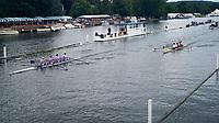 Henley Royal Regatta, Henley on Thames, Oxfordshire, 28 June - 2 July 2017.  Thursday  18:18:00   29/06/2017  [Mandatory Credit/Intersport Images]<br /> <br /> Rowing, Henley Reach, Henley Royal Regatta.<br /> <br /> The Prince Albert Challenge Cup<br />  Durham University 'A' v  Boston University, U.S.A.
