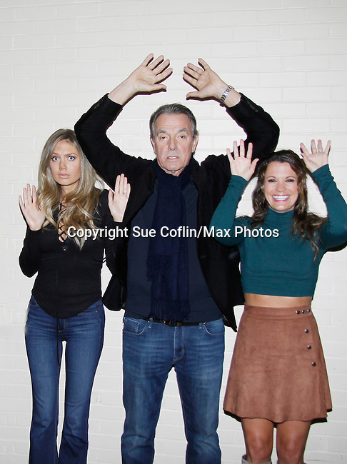Melissa Ordway, Eric Braeden, Melissa Claire Egan - The Young and The Restless - Genoa City Live celebrating over 40 years with on February 27. 2016 at The Lyric Opera House, Baltimore, Maryland on stage with questions and answers followed with autographs and photos in the theater.  (Photo by Sue Coflin/Max Photos)