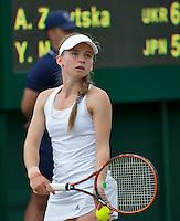 London, England, 3 July, 2016, Tennis, Wimbledon, Junior girls, Anastasia Zarytska (UKR)<br /> Photo: Henk Koster/tennisimages.com