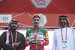 Italian National Champion Elia Viviani (ITA) Deceuninck-Quick Step wins Stage 5 of the 2019 UAE Tour, running 181km form Sharjah to Khor Fakkan, Dubai, United Arab Emirates. 28th February 2019.<br /> Picture: LaPresse/Fabio Ferrari | Cyclefile<br /> <br /> <br /> All photos usage must carry mandatory copyright credit (&copy; Cyclefile | LaPresse/Fabio Ferrari)
