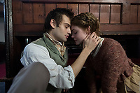 Mary Shelley (2017) <br /> Elle Fanning &amp; Douglas Booth<br /> *Filmstill - Editorial Use Only*<br /> CAP/MFS<br /> Image supplied by Capital Pictures