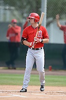 Los Angeles Angels of Anaheim outfielder Alex Abbott (8) during an Instructional League game against the Arizona Diamondbacks on October 7, 2014 at Salt River Fields at Talking Stick in Scottsdale, Arizona.  (Mike Janes/Four Seam Images)