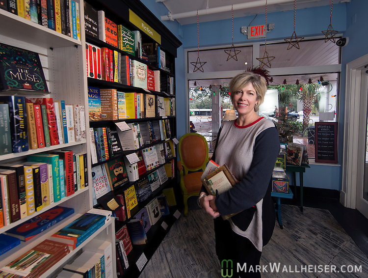 Sally Bradshaw in her bookstore, Midtown Reader, in midtown Tallahassee, Florida December 5, 2016.