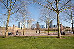 Bellevue, Downtown Park, Bellevue, Washington's central park with new highrise condos and office towers, Seattle area, King County, Washington State, Pacific Northwest,