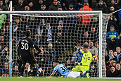 3rd December 2017, Etihad Stadium, Manchester, England; EPL Premier League football, Manchester City versus West Ham United; Nicolas Otamendi of Manchester City  scores in the 57th minute to make it 1-1