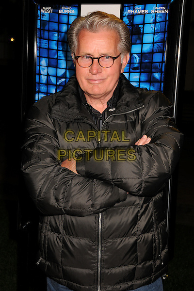 "MARTIN SHEEN.""Echelon Conspiracy"" Los Angeles Premiere at Paramount Studios, Hollywood, California, USA..February 25th, 2009.half length black puffa jacket coat arms crossed glasses .CAP/ADM/BP.©Byron Purvis/AdMedia/Capital Pictures."