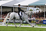 Louisa Milne Home during day 2 of the dressage phase at the 2012 Land Rover Burghley Horse Trials in Stamford, Lincolnshire,UK.