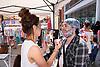 Norwich Pride, 28 July 2018 UK - glitter painting
