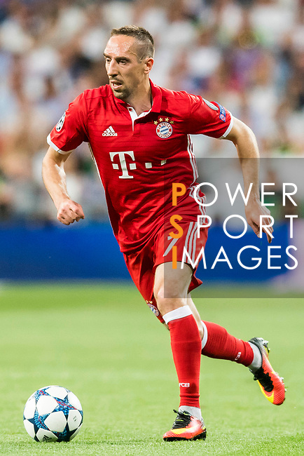 Franck Ribery of FC Bayern Munich in action during their 2016-17 UEFA Champions League Quarter-finals second leg match between Real Madrid and FC Bayern Munich at the Estadio Santiago Bernabeu on 18 April 2017 in Madrid, Spain. Photo by Diego Gonzalez Souto / Power Sport Images
