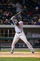 Jose Pirela (25) of the Scranton\Wilkes-Barre RailRiders at bat against the Charlotte Knights at BB&T BallPark on May 1, 2015 in Charlotte, North Carolina.  The RailRiders defeated the Knights 5-4.  (Brian Westerholt/Four Seam Images)