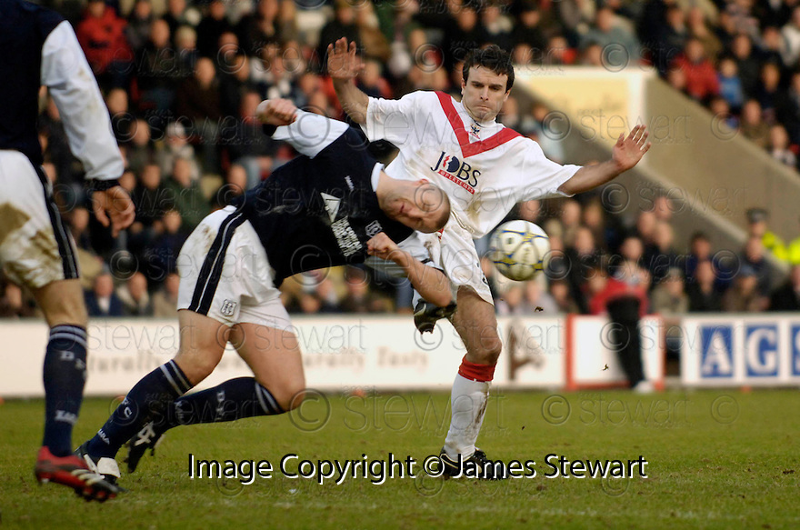 04/02/2006         Copyright Pic: James Stewart.File Name : sct_jspa04_airdrie_v_dundee.BOBBY MANN AND PAUL LOVERING CHALLENGE.Payments to :.James Stewart Photo Agency 19 Carronlea Drive, Falkirk. FK2 8DN      Vat Reg No. 607 6932 25.Office     : +44 (0)1324 570906     .Mobile   : +44 (0)7721 416997.Fax         : +44 (0)1324 570906.E-mail  :  jim@jspa.co.uk.If you require further information then contact Jim Stewart on any of the numbers above.........