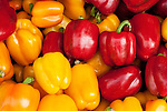 Bell Peppers - Red and yellow bell peppers, Buffalo Rd market, Little India, Singapore