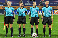 20200307  Parchal , Portugal : de referees pictured before the female football game between the national teams of New Zealand called the Football Ferns and Italy , called the Azzurre on the second matchday of the Algarve Cup 2020 , a prestigious friendly womensoccer tournament in Portugal , on saturday 7 th March 2020 in Parchal , Portugal . PHOTO SPORTPIX.BE | STIJN AUDOOREN