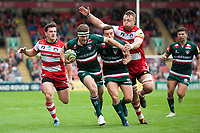 Nick Malouf of Leicester Tigers runs in a try. Aviva Premiership match, between Leicester Tigers and Gloucester Rugby on September 16, 2017 at Welford Road in Leicester, England. Photo by: Patrick Khachfe / JMP