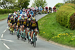 Team Lotto NL-Jumbo working on the front of the peloton during Stage 2 of the Tour de Yorkshire 2017 running 122.5km from Tadcaster to Harrogate, England. 29th April 2017. <br /> Picture: ASO/A.Broadway | Cyclefile<br /> <br /> <br /> All photos usage must carry mandatory copyright credit (&copy; Cyclefile | ASO/A.Broadway)