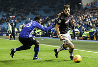 Bolton Wanderers' Yanic Wildschut competing with Sheffield Wednesday's Lucas Joao <br /> <br /> Photographer Andrew Kearns/CameraSport<br /> <br /> The EFL Sky Bet Championship - Sheffield Wednesday v Bolton Wanderers - Tuesday 27th November 2018 - Hillsborough - Sheffield<br /> <br /> World Copyright &copy; 2018 CameraSport. All rights reserved. 43 Linden Ave. Countesthorpe. Leicester. England. LE8 5PG - Tel: +44 (0) 116 277 4147 - admin@camerasport.com - www.camerasport.com