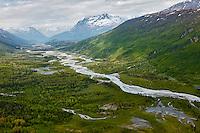 Aerial view of river, Alaska