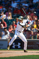 Dylan Carlson (6) of Elk Grove High School in Elk Grove, California during the Under Armour All-American Game on August 15, 2015 at Wrigley Field in Chicago, Illinois. (Mike Janes/Four Seam Images)