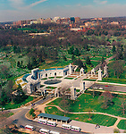 Aerial view of Tomb of Unknown Soldier and and Ballston Virginia in Background