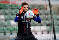 Lincoln City's Josh Vickers during the pre-match warm-up<br /> <br /> Photographer Chris Vaughan/CameraSport<br /> <br /> Football Pre-Season Friendly - Lincoln City v Stoke City - Wednesday July 24th 2019 - Sincil Bank - Lincoln<br /> <br /> World Copyright © 2019 CameraSport. All rights reserved. 43 Linden Ave. Countesthorpe. Leicester. England. LE8 5PG - Tel: +44 (0) 116 277 4147 - admin@camerasport.com - www.camerasport.com