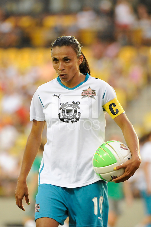 Marta of Marta XI during the Women's Professional Soccer (WPS) All-Star Game at KSU Stadium in Kennesaw, GA, on June 30, 2010.