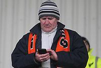 Blackpool Football Club's Fans await the kick off<br /> <br /> Photographer Mick Walker/CameraSport<br /> <br /> The EFL Sky Bet League One - Rochdale v Blackpool - Monday 1st January 2018 - Spotland Stadium - Rochdale<br /> <br /> World Copyright &copy; 2018 CameraSport. All rights reserved. 43 Linden Ave. Countesthorpe. Leicester. England. LE8 5PG - Tel: +44 (0) 116 277 4147 - admin@camerasport.com - www.camerasport.com