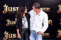 "Inma Cuesta and Antonio Banderas during ""Justin And The Knights Of Valour"" film presentation in Spain, in Villaviciosa de Odon castle, in Madrid, Spain. September 11, 2013. (Alterphotos/Victor Blanco) /nortephoto.com"