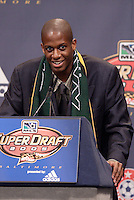 Quavas Kirk is picked by the Los Angeles Galaxy in the third round of the MLS SuperDraft held at the Baltimore Convention Center, Baltimore, MD, on Friday, January 14, 2005..