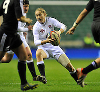 Rugby Union. Twickenham, England. Natasha Hunt of England during the QBE international match between England and New Zealand Black Ferns at Twickenham Stadium on December 01, 2012 in Twickenham, England.