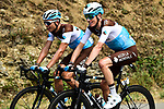 The peloton including Romain Bardet and Benoit Cosnefroy (FRA) AG2R La Mondiale during Stage 7 of the 2019 Tour de France running 230km from Belfort to Chalon-sur-Saone, France. 12th July 2019.<br /> Picture: ASO/Alex Broadway | Cyclefile<br /> All photos usage must carry mandatory copyright credit (© Cyclefile | ASO/Alex Broadway)