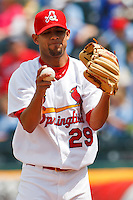Eduardo Sanchez (29) April 20th, 2010; Midland Texas Rockhounds vs The Springfield Cardinals at Hammons Field in Springfield Missouri.  The Cardinals won in the 9th inning breaking a 1-1 tie.
