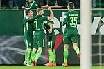 12.03.2018, Weser Stadion, Bremen, GER, 1.FBL, Werder Bremen vs 1.FC Koeln, im Bild<br /> <br /> Milot Rashica (Neuzugang Werder Bremen #11) 2 zu1 Jubel <br /> mit Florian Kainz (Werder Bremen #7)<br /> Maximilian Eggestein (Werder Bremen #35)<br /> Zlatko Junuzovic (Werder Bremen #16)<br /> Foto &copy; nordphoto / Kokenge