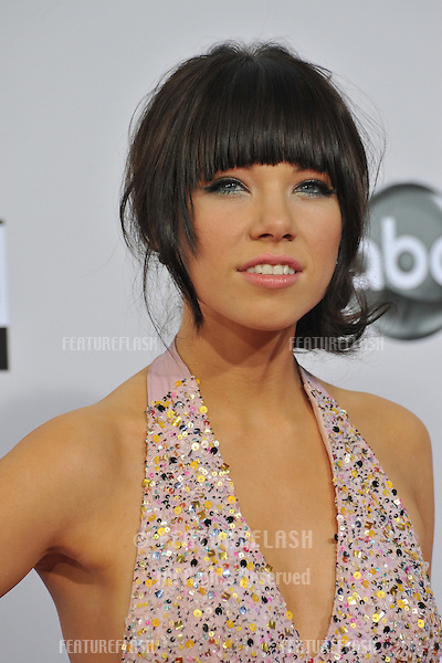 Carly Rae Jepson at the 40th Anniversary American Music Awards at the Nokia Theatre LA Live..November 18, 2012  Los Angeles, CA.Picture: Paul Smith / Featureflash