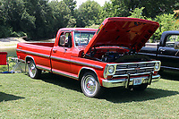 MEGAN DAVIS/MCDONALD COUNTY PRESS Ford-lovers of all eras took a moment to croon over the meticulously restored 1968 Ford Ranger during the FORDification Auto Show last year. Proceeds from the event are used to grant a scholarship to a local art student.