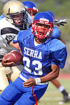 Gardena, CA 09/24/09 - Serra of Gardena Freshmen/Sophomores defeated the Peninsula Panthers 44-0.  In action are