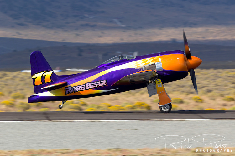 "Unlimited Air Racer ""Rare Bear"" on take off roll."