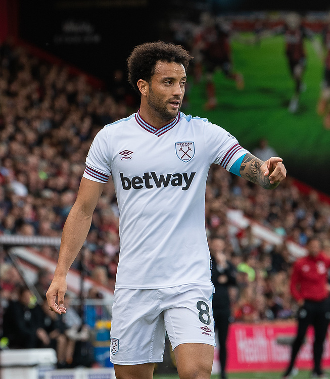 West Ham United's Felipe Anderson<br /> <br /> Photographer David Horton/CameraSport<br /> <br /> The Premier League - Bournemouth v West Ham United - Saturday 28th September 2019 - Vitality Stadium - Bournemouth<br /> <br /> World Copyright © 2019 CameraSport. All rights reserved. 43 Linden Ave. Countesthorpe. Leicester. England. LE8 5PG - Tel: +44 (0) 116 277 4147 - admin@camerasport.com - www.camerasport.com