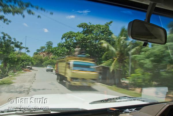 Truck on a road south of Dili, Timor-Leste (East Timor)