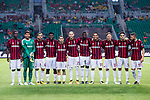 AC Milan squad pose for team photo during the International Champions Cup 2017 match between AC Milan vs Borussia Dortmund at University Town Sports Centre Stadium on July 18, 2017 in Guangzhou, China. Photo by Marcio Rodrigo Machado / Power Sport Images