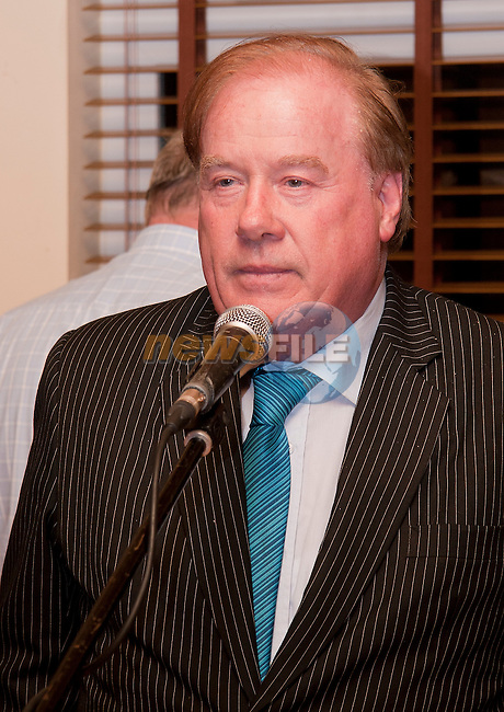 Frank Godfrey, the founding member, thanks everyone for their participation..Picture: Shane Maguire / www.newsfile.ie.