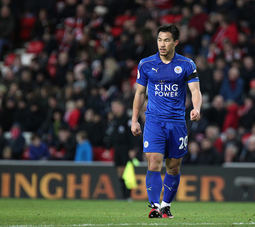 Leicester City's Shinji Okazaki <br /> <br /> Photographer Rich Linley/CameraSport<br /> <br /> The Premier League - Sunderland v Leicester City - Saturday 3rd December 2016 - Sunderland Stadium of Light - Sunderland<br /> <br /> World Copyright &copy; 2016 CameraSport. All rights reserved. 43 Linden Ave. Countesthorpe. Leicester. England. LE8 5PG - Tel: +44 (0) 116 277 4147 - admin@camerasport.com - www.camerasport.com