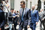 Real Madrid's Cristiano Ronaldo arrives to Crystal Gallery of the Palacio de Cibeles in Madrid, May 22, 2017. Spain.<br /> (ALTERPHOTOS/BorjaB.Hojas)