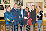 St Senan's Lotto Wimmers : Pat & Nora Maty O'Hanlon, Mountcoal, Listowel being presented with the winning cheque of EUR5,800.00 in the St. Senan's GAA club Lottery on Friday night last at The Clubhouse, Mountcoal. L-R Tom Dillon tresurer, Jerry Foran, lotto organiser, Pat & Nora Mary O'Hanlon, Siobhan Walsh, Sec. & Mary O'Connell, PRO.