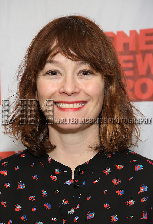 """Erica Schmidt attends the New Group's """"All the Fine Boys"""" rehearsal photocall at their rehearsal studio on February 3, 2017 in New York City."""