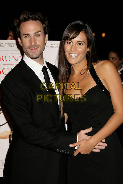"JOSEPH FIENNES & MARIA.""Running with Scissors"" World Premiere held at the Academy of Motion Pictures Arts and Sciences, Beverly Hills, California, USA..October 10th, 2006.Ref: ADM/RE.half length black dress suit jacket.www.capitalpictures.com.sales@capitalpictures.com.©Russ Elliot/AdMedia/Capital Pictures."