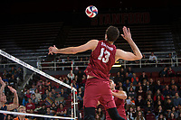STANFORD, CA - March 3, 2018: Kevin Rakestraw at Maples Pavilion. The Stanford Cardinal lost to Pepperdine, 3-0.
