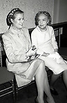 Grace Kelly and Lillian Gish attend the Theatre Hall Of Fame Awards held on March 28, 1982 at the Uris Theater, now called the Gershwin Theater, New York City.