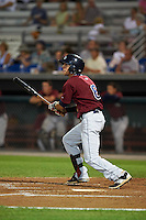 Mahoning Valley Scrappers third baseman Alexis Pantoja (6) at bat during a game against the Auburn Doubledays on September 4, 2015 at Falcon Park in Auburn, New York.  Auburn defeated Mahoning Valley 5-1.  (Mike Janes/Four Seam Images)