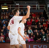 STANFORD, CA - January 5, 2019: Kyler Presho at Maples Pavilion. The Stanford Cardinal defeated UC Santa Cruz 25-11, 25-17, 25-15.