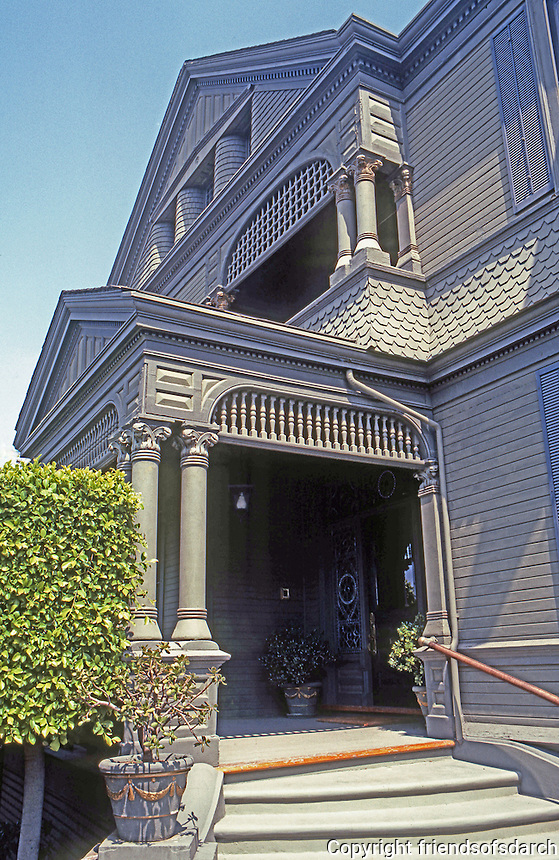 San Diego: Timken House, 1888. Entrance.